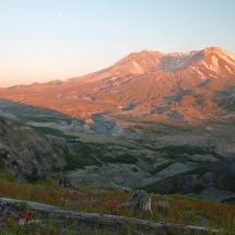 2nd-Nature-Schutt-Mt St Helens at sunset
