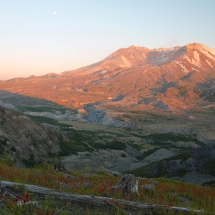 2nd-Nature-Schutt-Mt St Helens at sunset